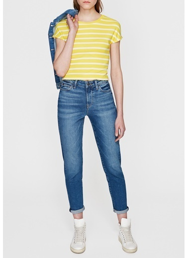 Mavi Basic Tişört Sarı